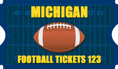 Michigan Football Tickets 123 Logo